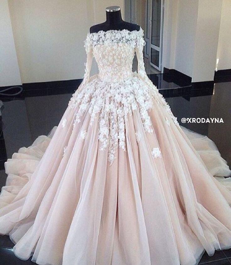 Zarte Rosa Romantik Romantik Zarte Elbise Dugun Balo Elbisesi Gelinlik