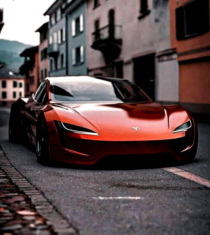 Next-Gen Tesla Roadster in orange! #tesla #teslaroadster #roadster #electriccars #electricvehicles #evs #supercars #sportscars #Luxury