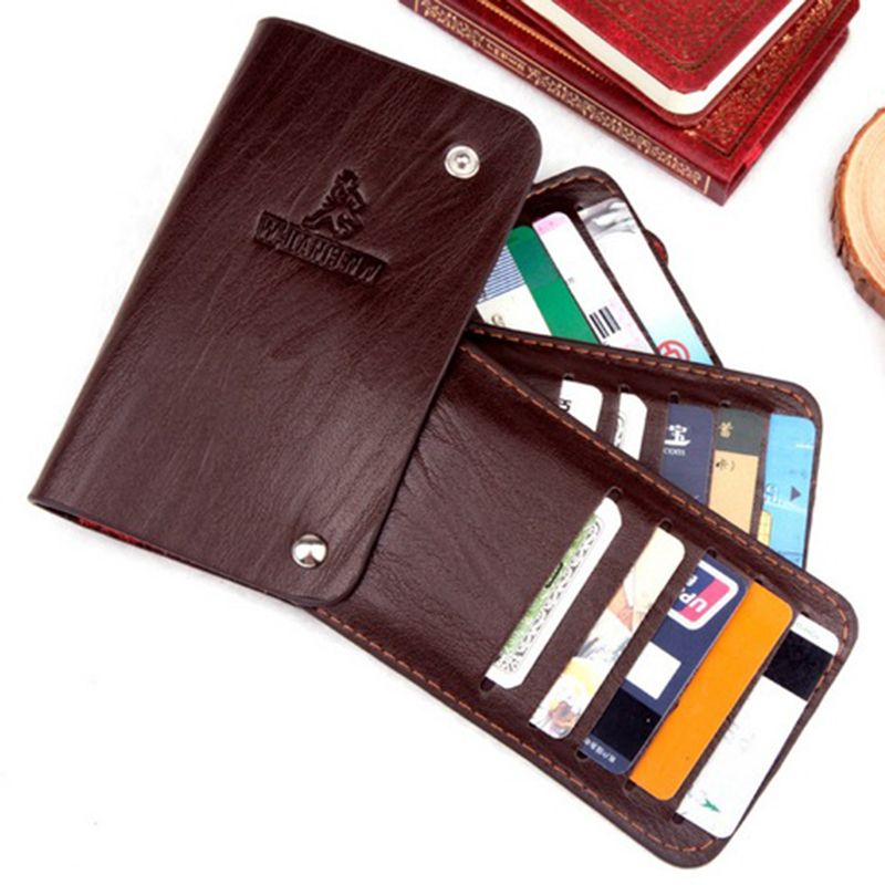 Card Holder Porte Carte Credit Cardholder Travel Wallet Leather - Porte carte credit
