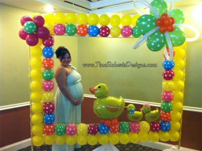 Balloon Photo Frame Booth : Just Ducky Baby Shower