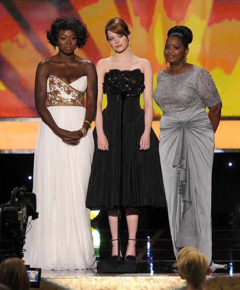 "Emma Stone, Octavia Spencer and Viola Davis from ""The Help""  I love all their dresses!"