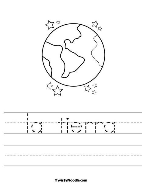 La Tierra Worksheet Earth Day Worksheets Earth For Kids Preschool Worksheets