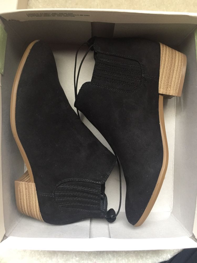 34911dc5316 Target Black Suede Booties size 7 BRAND NEW NEVER BEFORE WORN  fashion   clothing  shoes  accessories  womensshoes  boots (ebay link)
