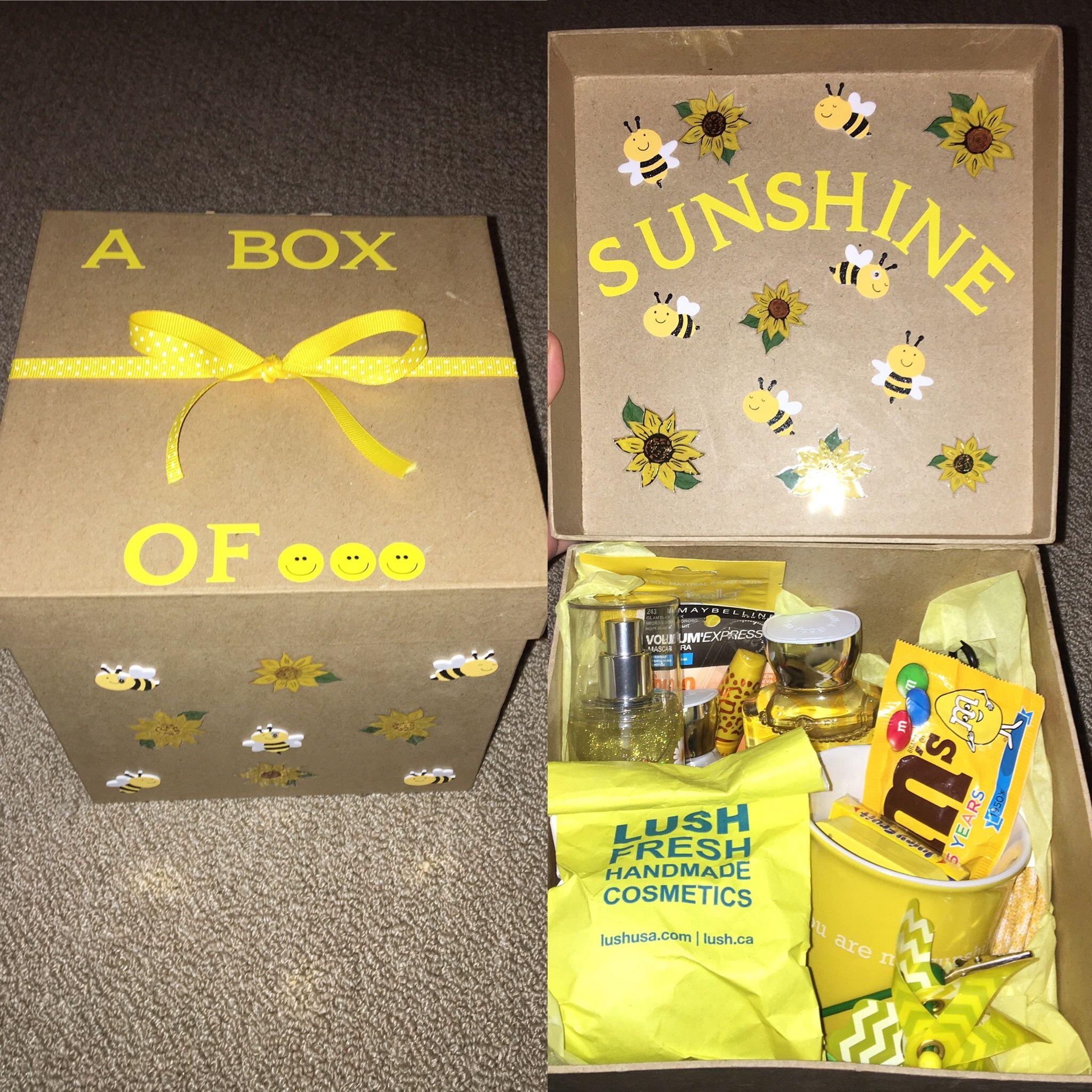 Box of sunshine sunshine gift diy birthday gifts cute