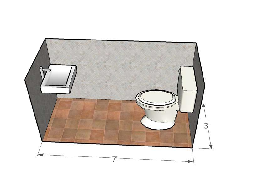 Smallest of the Small Half Bath Design Dimensions