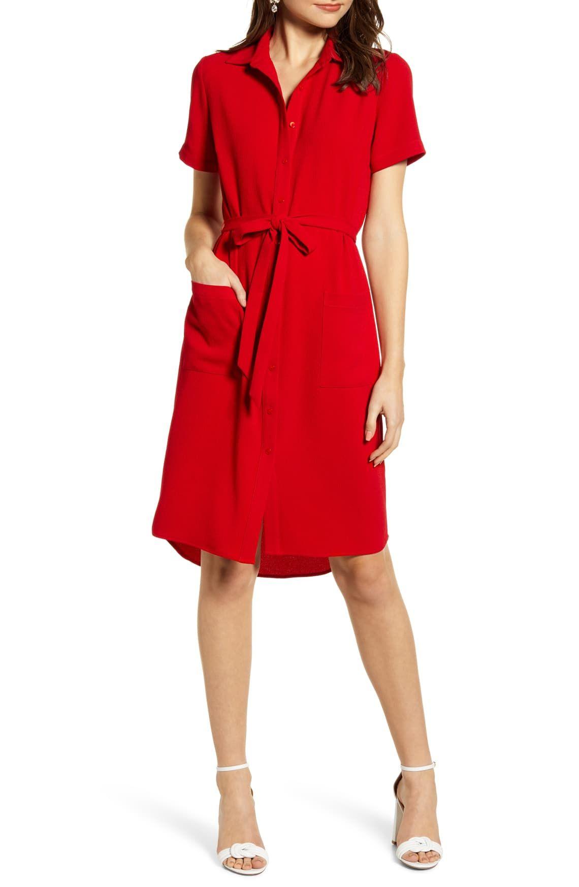 Rachel Parcell Everyday High Low Shirt Dress Nordstrom Exclusive Nordstrom High Low Shirt Dress Nordstrom Dresses Red Slip Dress [ 1746 x 1140 Pixel ]