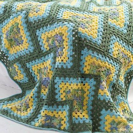 Crochet For Children: Crochet Granny Afghan (Free Pattern) ༺✿ƬⱤღ ...