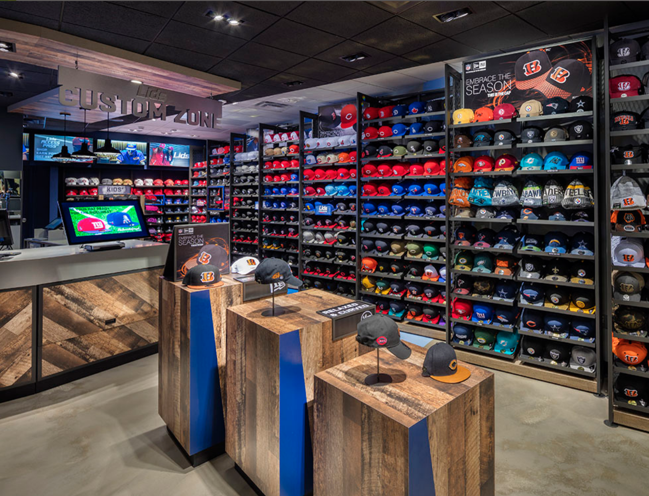 Lids Sports Group Retail Displays Hat Stores Retail Store Design Cap Store