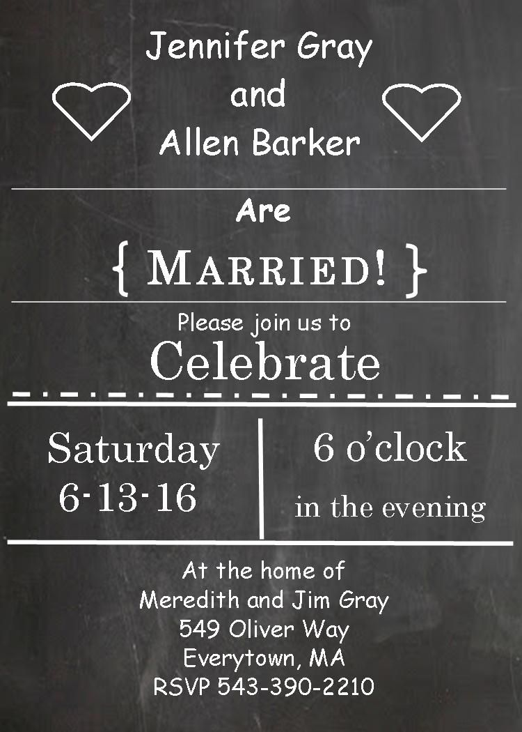 Awesome After The Wedding Party Invitations Or Elopement