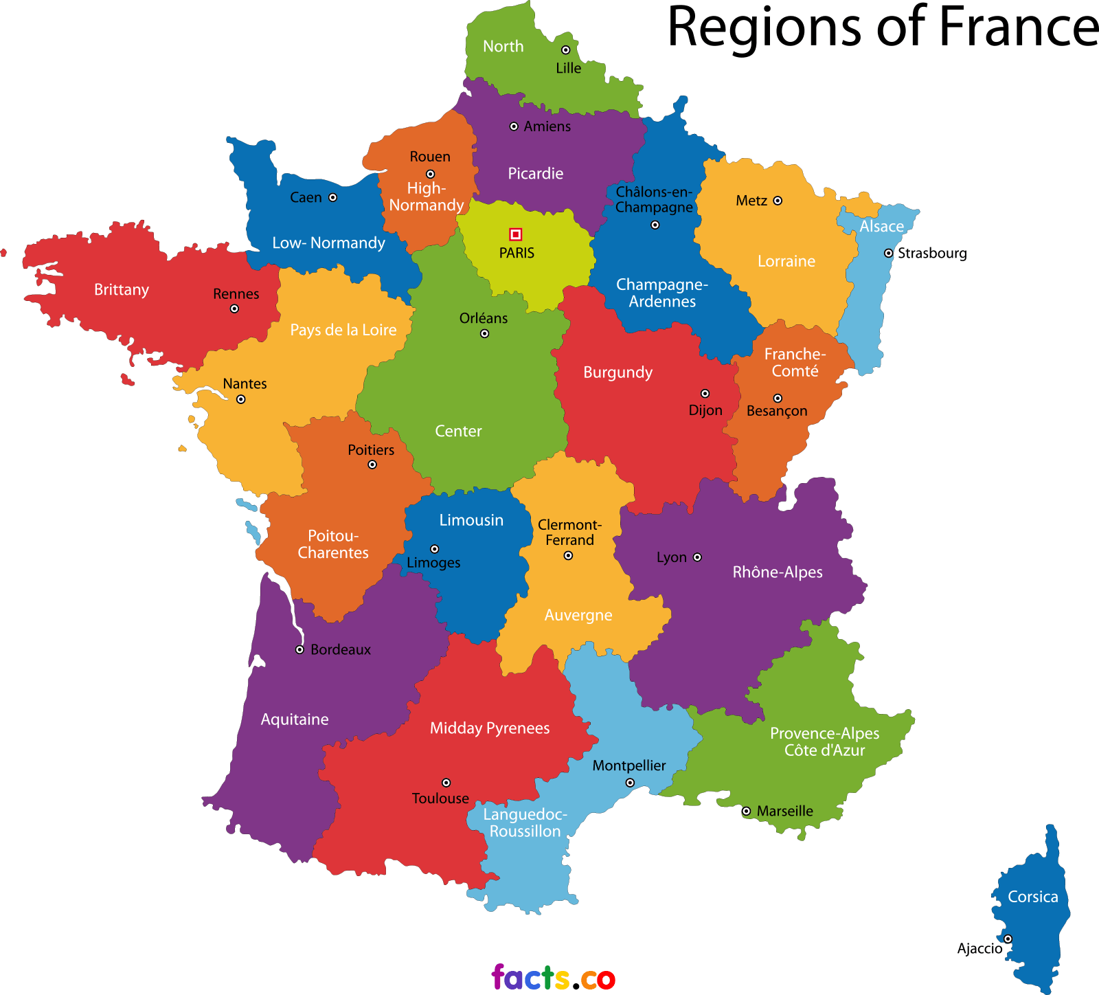 Map Of France France.France Map Blank Political France Map With Cities French Lessons