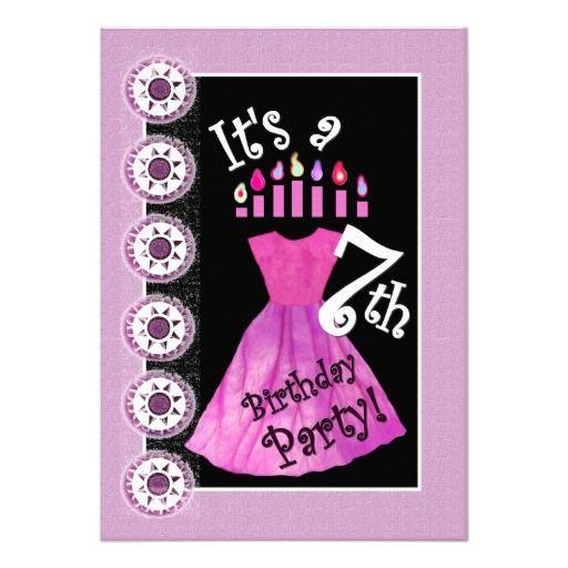 22 7th birthday party invitations ideas