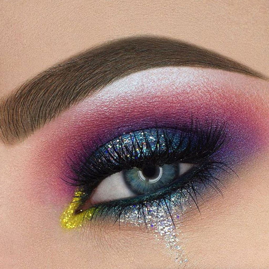 8 Amazing glitter makeup looks from Instagram Glitter