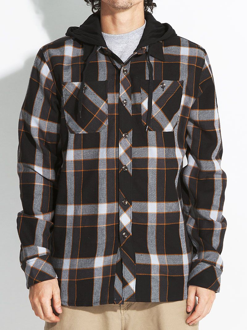 Flannel jackets with hood  Element Franklin Hooded Flannel Shirt   For The Guy