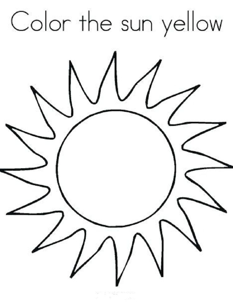 Sun Coloring Pages For Preschoolers Sun Coloring Pages Moon Coloring Pages Sun Template