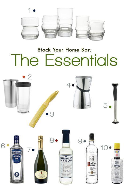 Bar Basics Stock Your Home Bar Home Bar Essentials Home Bar Bar Essentials