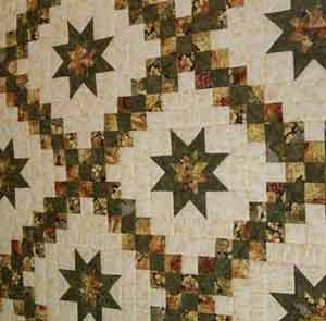 Star In Double Irish Chain Quilt Link Is To A Very Expensive Kit Or Finished