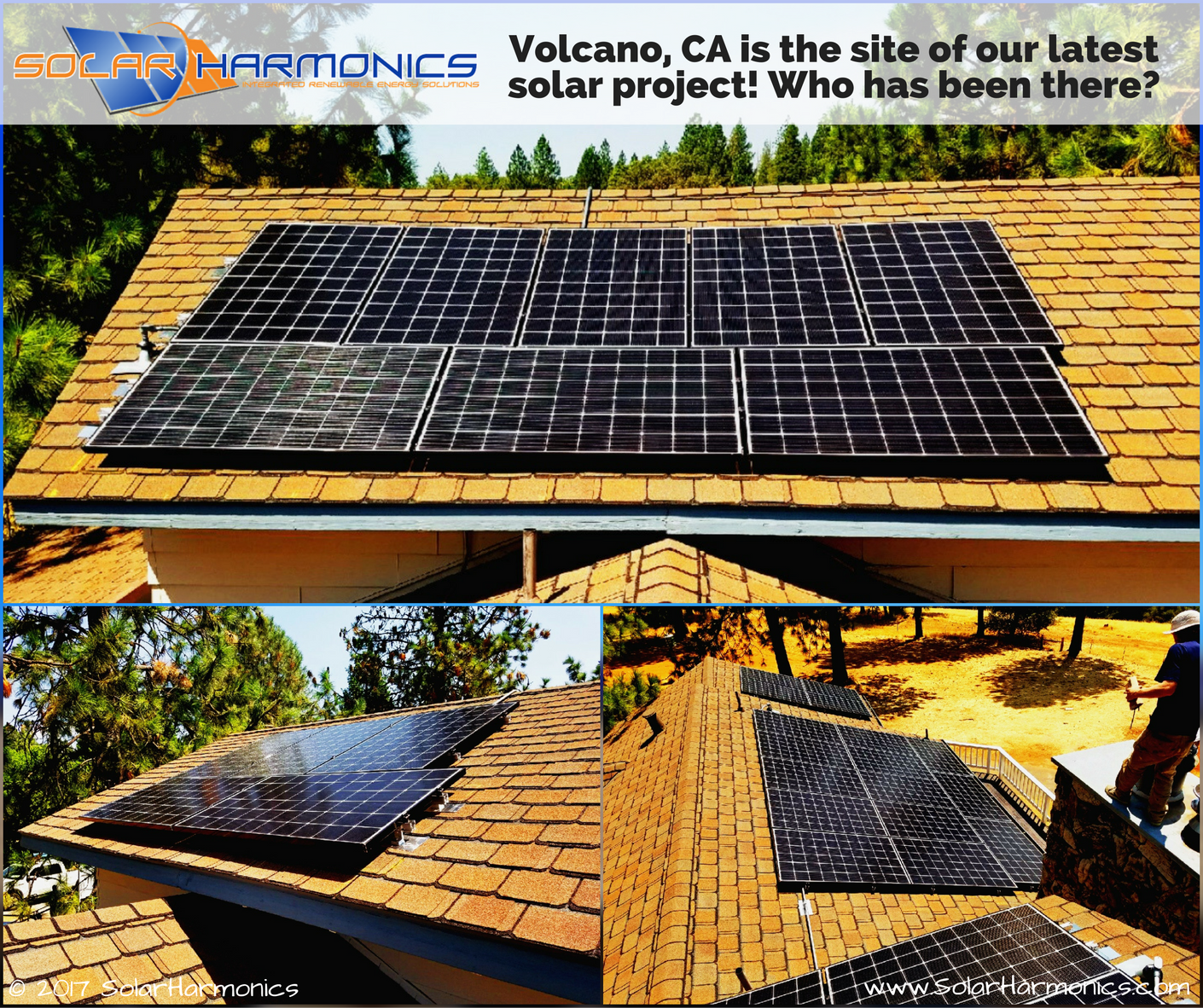 Volcano Ca Is The Site Of Our Latest Solar Project Who Has Been There Companies Installation Thank You Solar Projects Solar Solar Installation