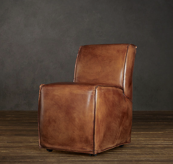 Bruno Leather Dining Chair Narrow Restoration Hardware