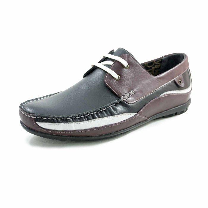 4362-Siyah Deri Büyük Numara Ayakkabı