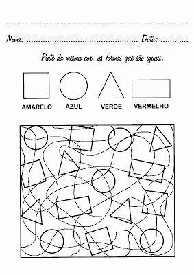 Atividades Formas Geometricas Educacao Infantil Imprimir