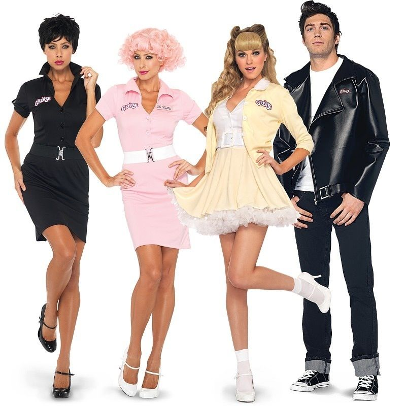 Grease Lightning Couples Costumes From Buycostumes Com Couples Costumes Couple Halloween Costumes Grease Costumes
