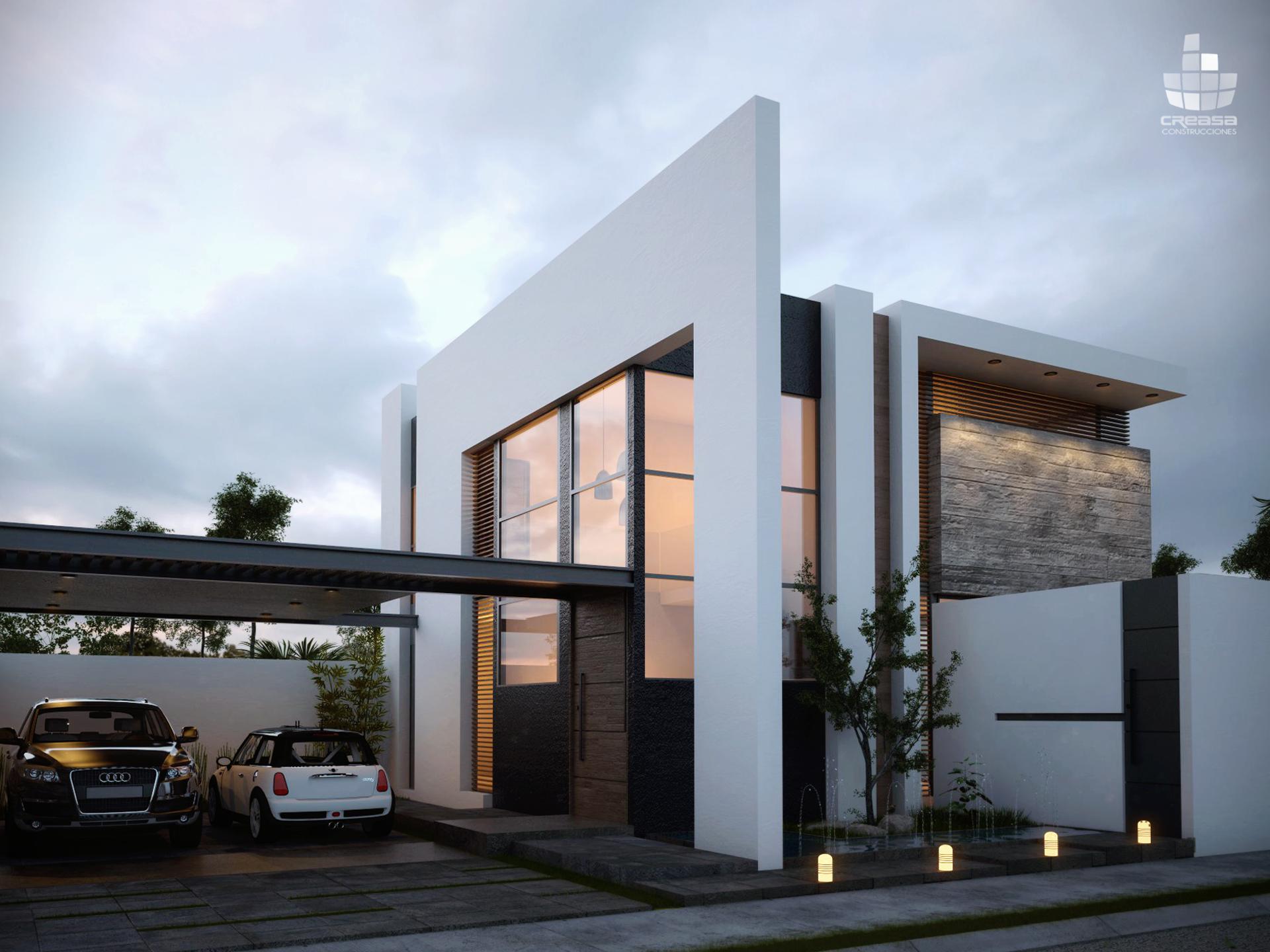 Casa residencial en colima m xico oscar fachada for Casa minimalista residencial