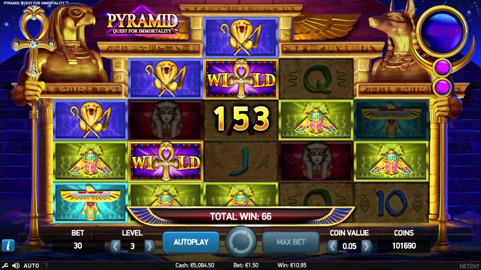 игровой автомат pyramid quest for immortality