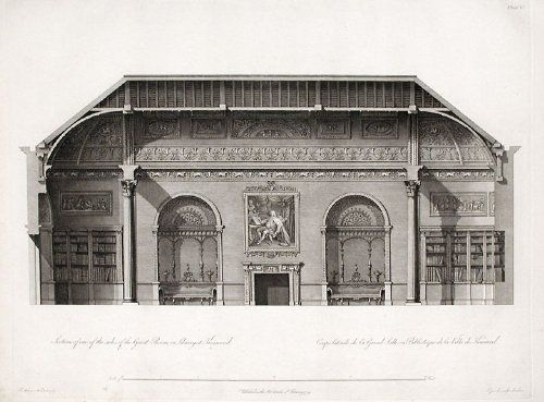 Section of one of the sides of the Great Room, or Library at Kenwood., Engraving, After Robert Adam (1728-1792) ($650)