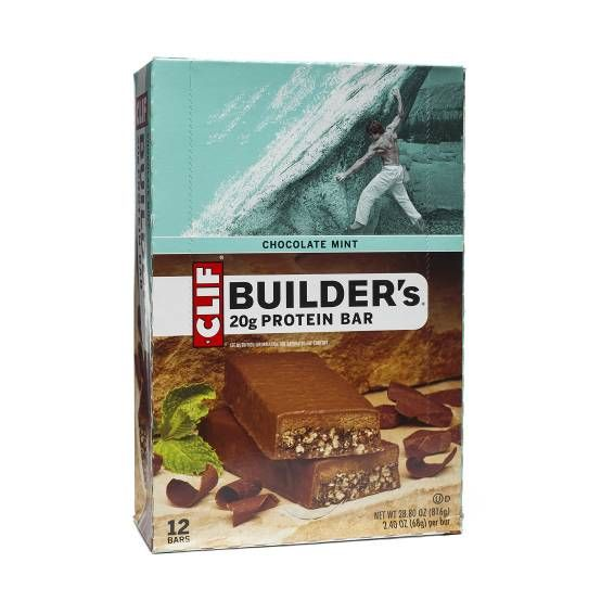 Clif Bar Chocolate Mint Builder S Bars Mint Chocolate Protein Bars Clif Bars
