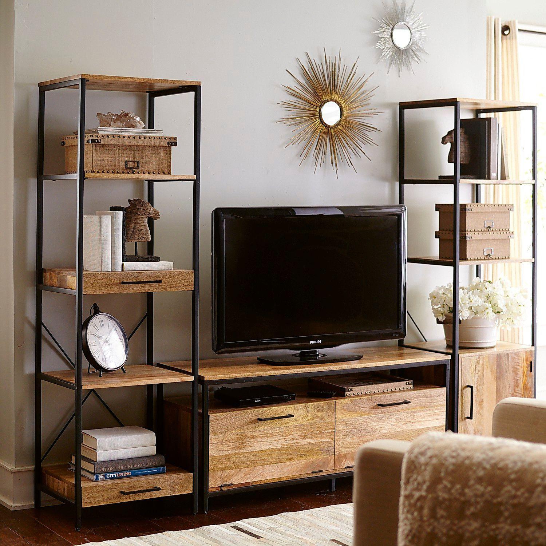 Master bedroom entertainment centers  Takat Natural Mango Wood