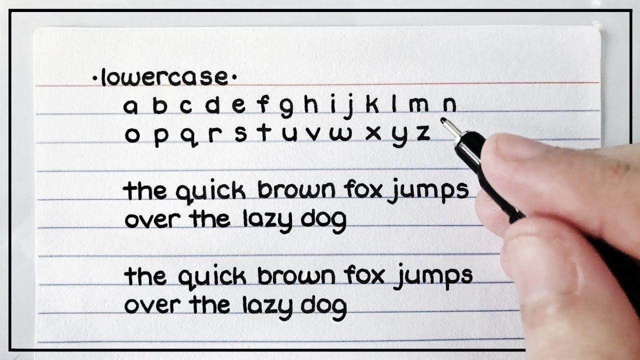 My Handwriting Lowercase & Uppercase (Cursive & Print