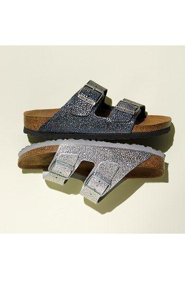 dcdc2bc92782 Birkenstock  Arizona  Soft Footbed Textured Leather Sandal (Women ...