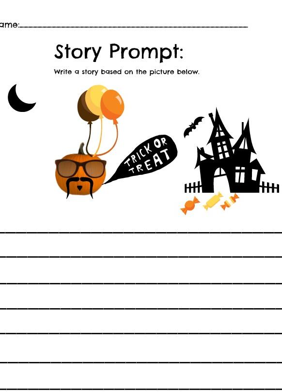 FREE Pumpkin Themed Worksheet Math and Story Printables | Story ...