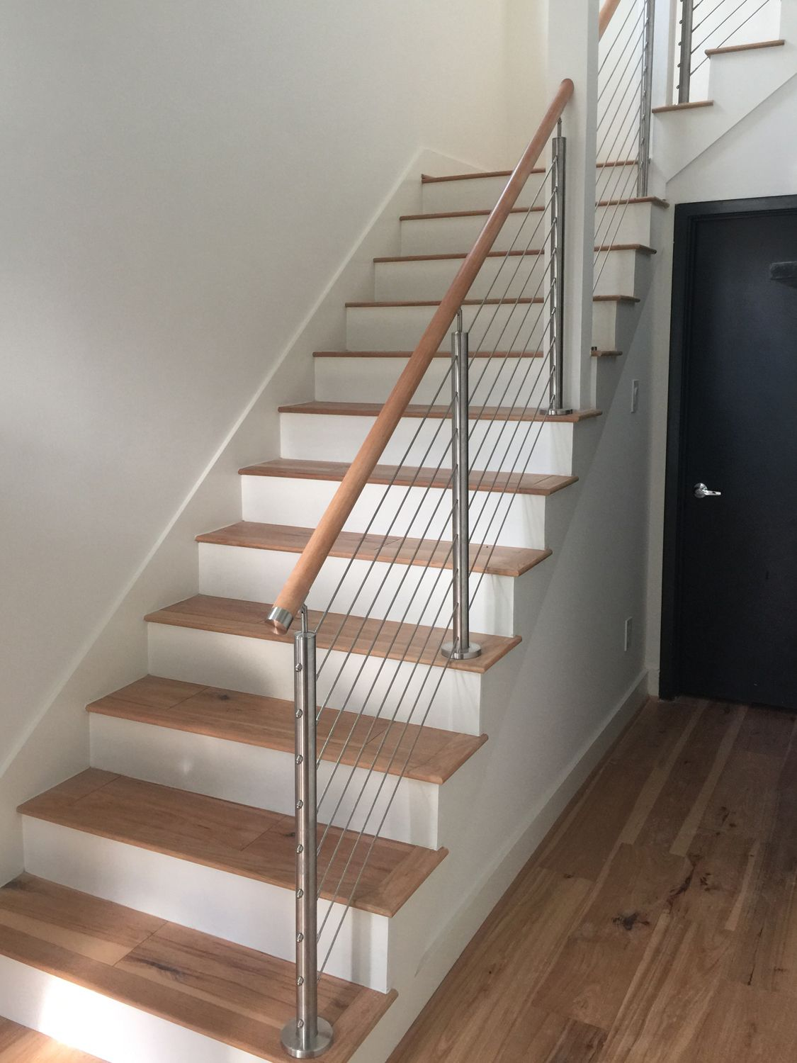 Our Stainless Steel And Cable Railing Brings A Simple Modern Touch To Your Space Stairs Design Interior Stairs Design Modern Staircase Design