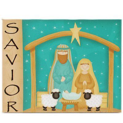 Blossom Bucket Savior Nativity Wall Box Sign