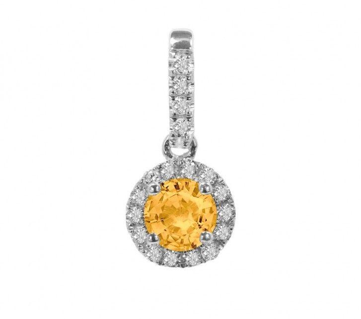 Golden topaz and diamond pendant jewelry birthstones pinterest golden topaz and diamond pendant jewelry aloadofball Images