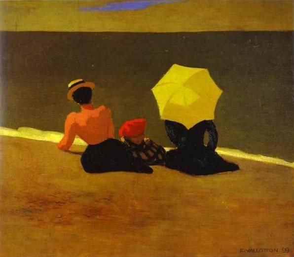 Felix Edouard Vallotton Swiss Artist 1865 1925 On The Beach 1899 Art Painting Needlepoint Canvases