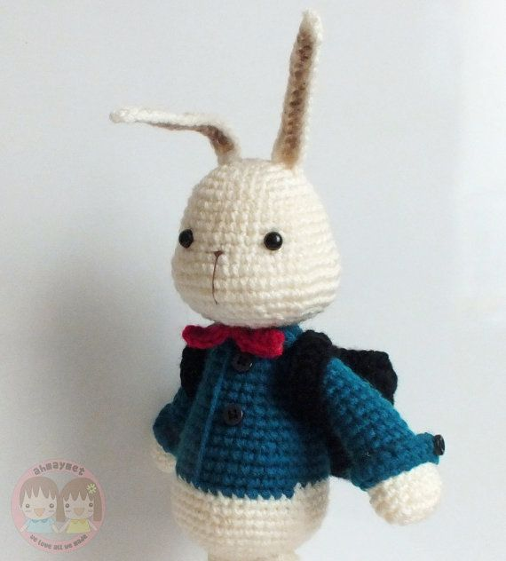 Student Bunny   Knit & Crochet: Amigurumi   Pinterest   Tortuga ...
