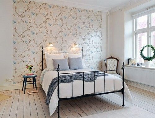 43 Bedrooms Where One Wall Features A Spectacular Wallpaper Shelterness Wallpaper Design For Bedroom Apartment Decorating Themes Home Decor