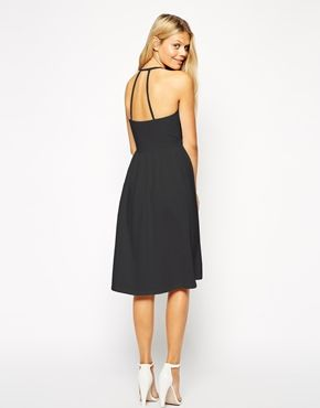 ASOS Midi Sundress with Strappy Back and Wrap Front