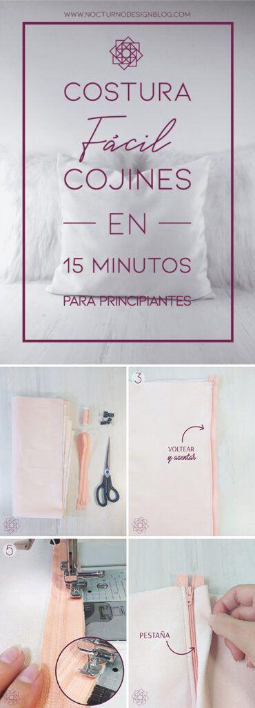 Costura fácil: Cojines en 15 minutos.