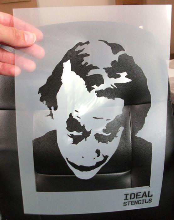 ideal stencils  Pin by No One on art stencils | Pinterest | Stencils, Joker stencil ...