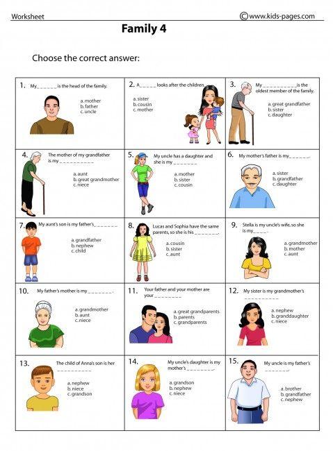 Family 4 worksheets | Angielski | Pinterest | Worksheets and ...