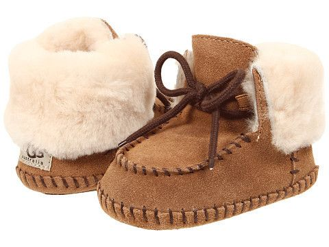 """Ugg: Baby Sparrow Bootie Infant/Toddler (Chestnut) Enter Code: """"15SHOP"""" at Checkout at http://www.littlefeetshoes.com  for 15% off Prices."""