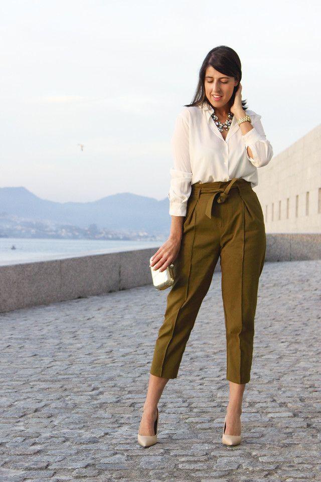 Zdrav Bandzho Nezavisim Pantalon Vestir Verde Mujer Asociacionasap Es