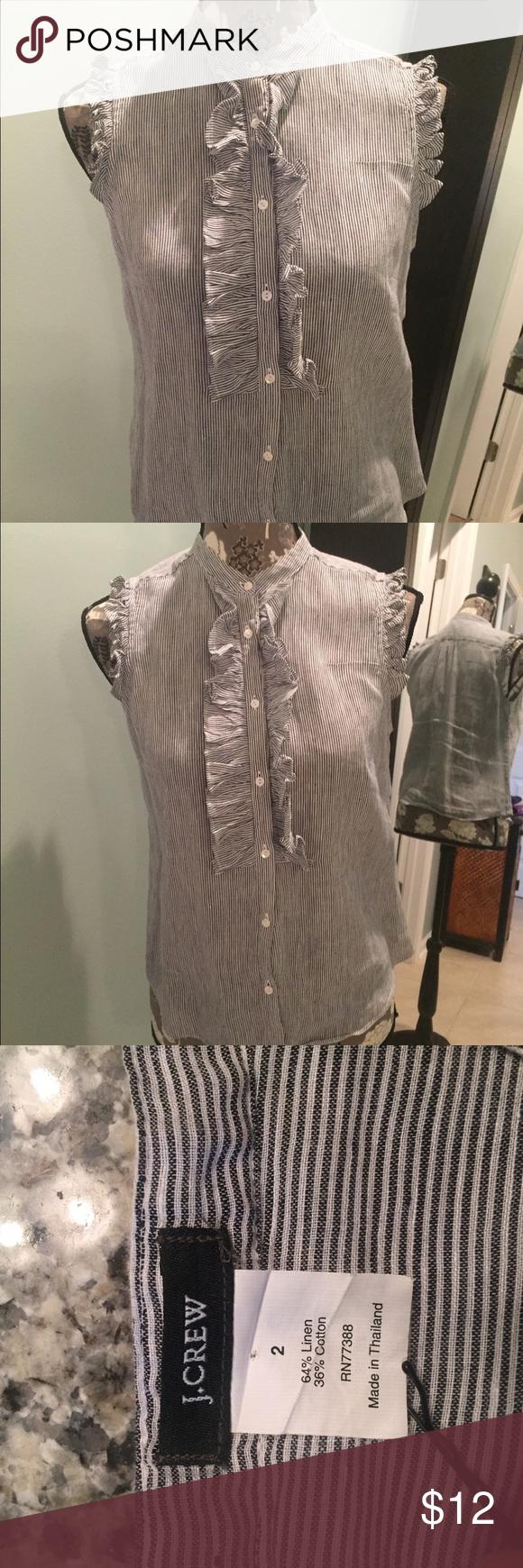 J. CREW Button up blouse Striped J. CREW blouse J. Crew Tops Blouses