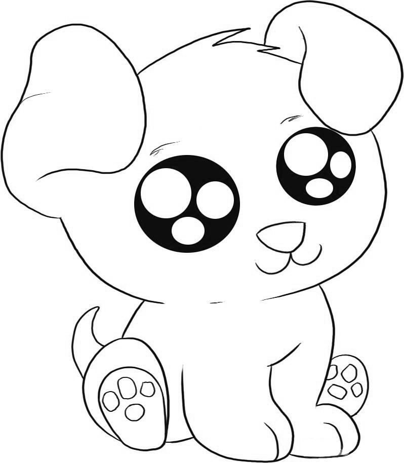 Puppy Coloring Pages Cute Animal Drawings Puppy Coloring Pages