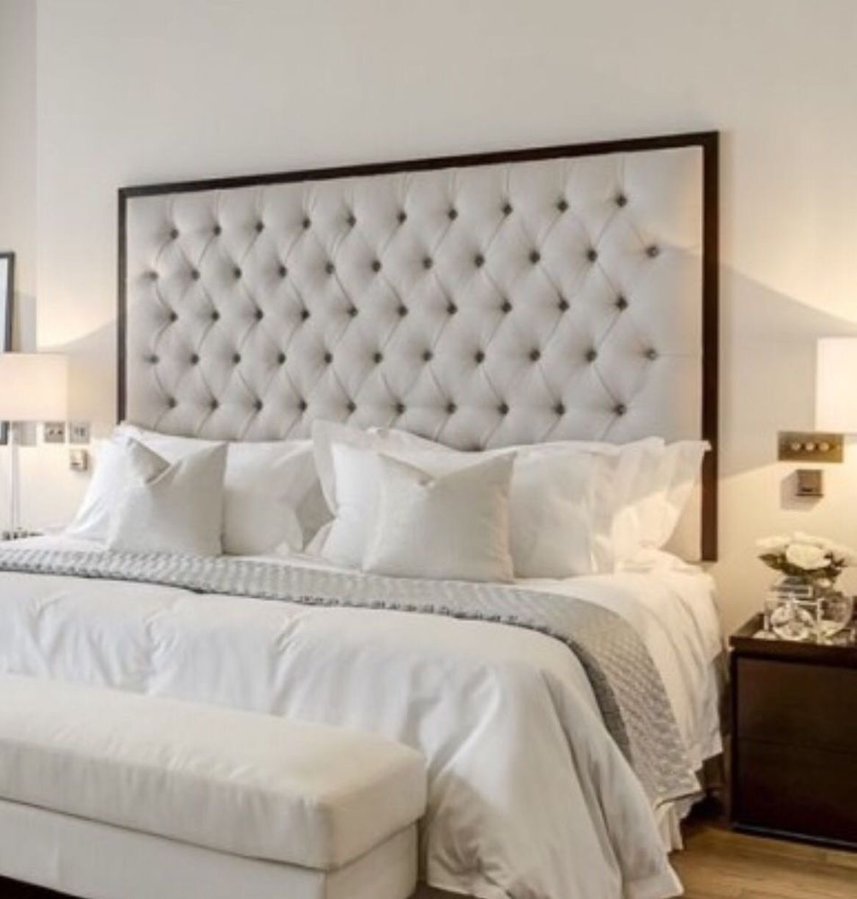 Details About 44 Inch Tall Faux Leather Nice Headboard Diamonds