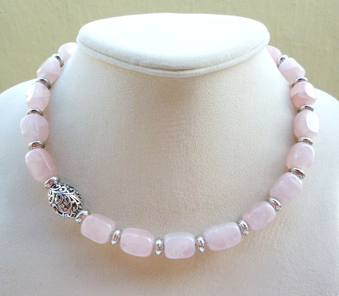 Pastel Jewelry for Summer 2014 Pastel jewellery is hot for summer 2014. What better way to stay elegantly on trend than with a gorgeous handmade pastel pink rose quartz necklace from Big Skies Jew...