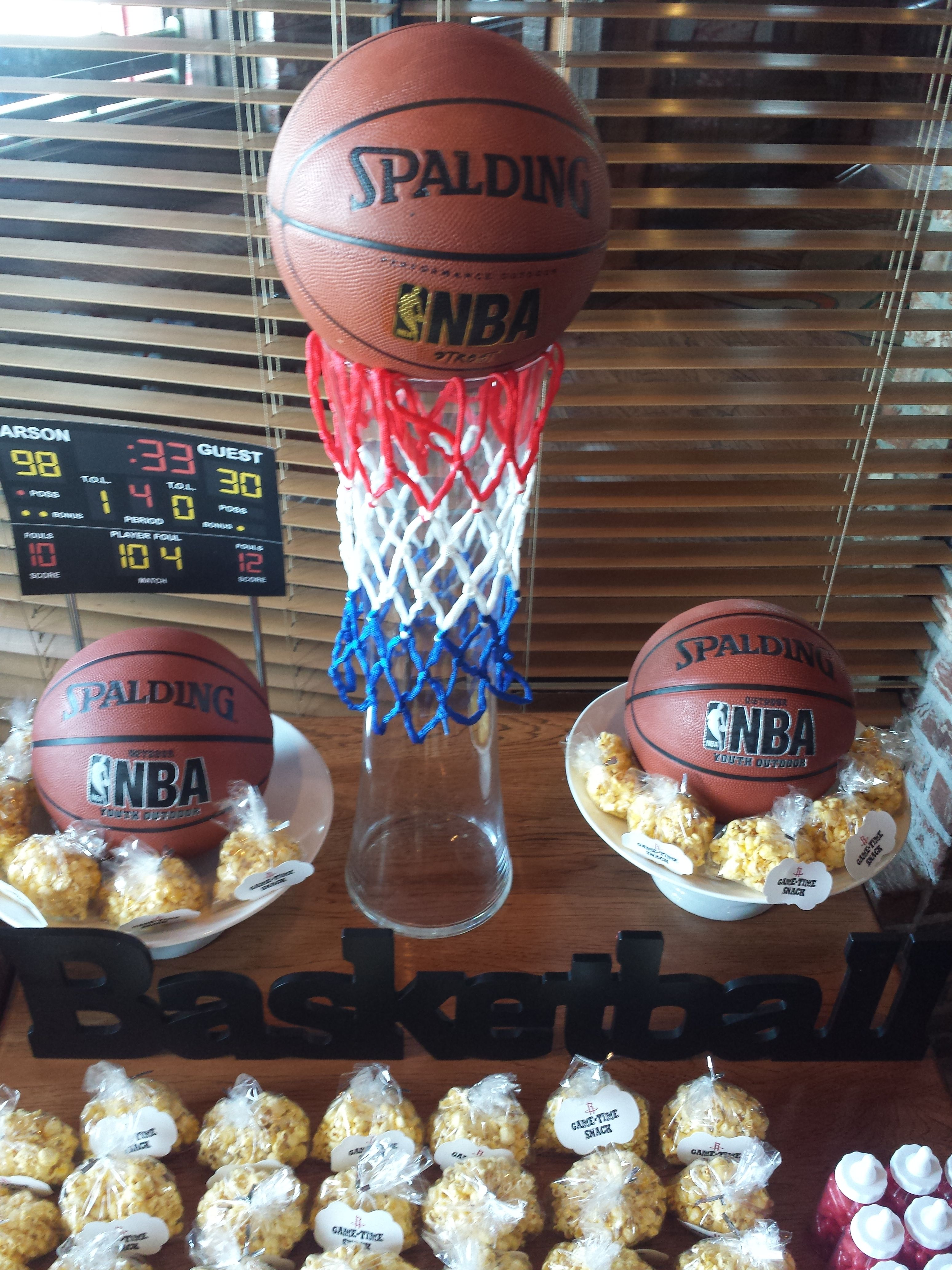 Houston Rockets Theme Baby Shower Table Centerpiece Basketballgoal R Basketball Theme Baby Shower Purple Butterfly Baby Shower Baby Shower Purple